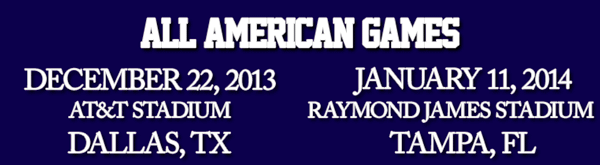 Blue Grey All American Games Dallas and Tampa Bay