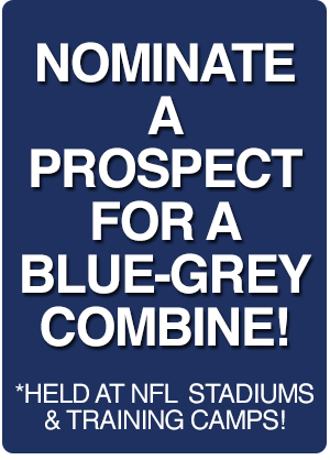 Blue Grey Football Combines Nominate a prospect banner