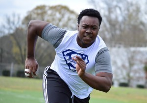 Joseph Burke was among the many recruits who did well at the recent Blue-Grey Regional Combine in Georgia.