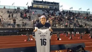 During the recent nationwide Blue-Grey Jersey Presentation Tour, Oklahoma State commit Nick Starkel was recognized.