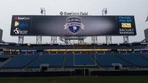 Jacksonville Jaguars' EverBank Field is one of many sites for the Blue-Grey All-American Combine.