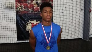 Regardless of class distinction, underclassman Marquis Morris was one of the top prospects in attendance at the recent Blue-Grey All-American Combine (Heartland Regional).