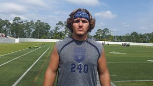 With close to 10 scholarship offers on the table, Cole Schneider was among the top prospects in attendance at the recent Blue-Grey All-American Combine in Daytona Beach (FL).
