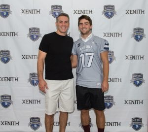 Big Sky Conference target Kade Warner and NFL veteran father Kurt Warner recently took part in a stop on the nationwide Blue-grey Jersey Presentation Tour.