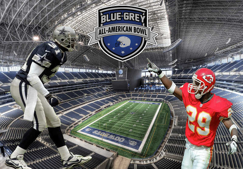 NFL veterans George Teague (left) and Mark McMillian (right) will coach at the Blue-Grey All-American Bowl at Dallas Cowboys' AT&T Stadium on Dec. 22.